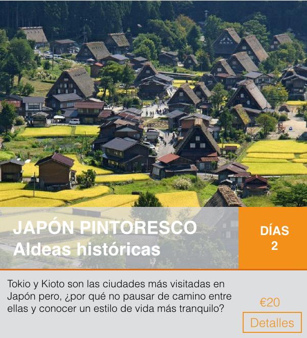 Itinerario titulado: Japón pintoresco, aldeas históricas